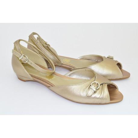 Открытые туфли Anna de Valle Арт. 9436 champagne